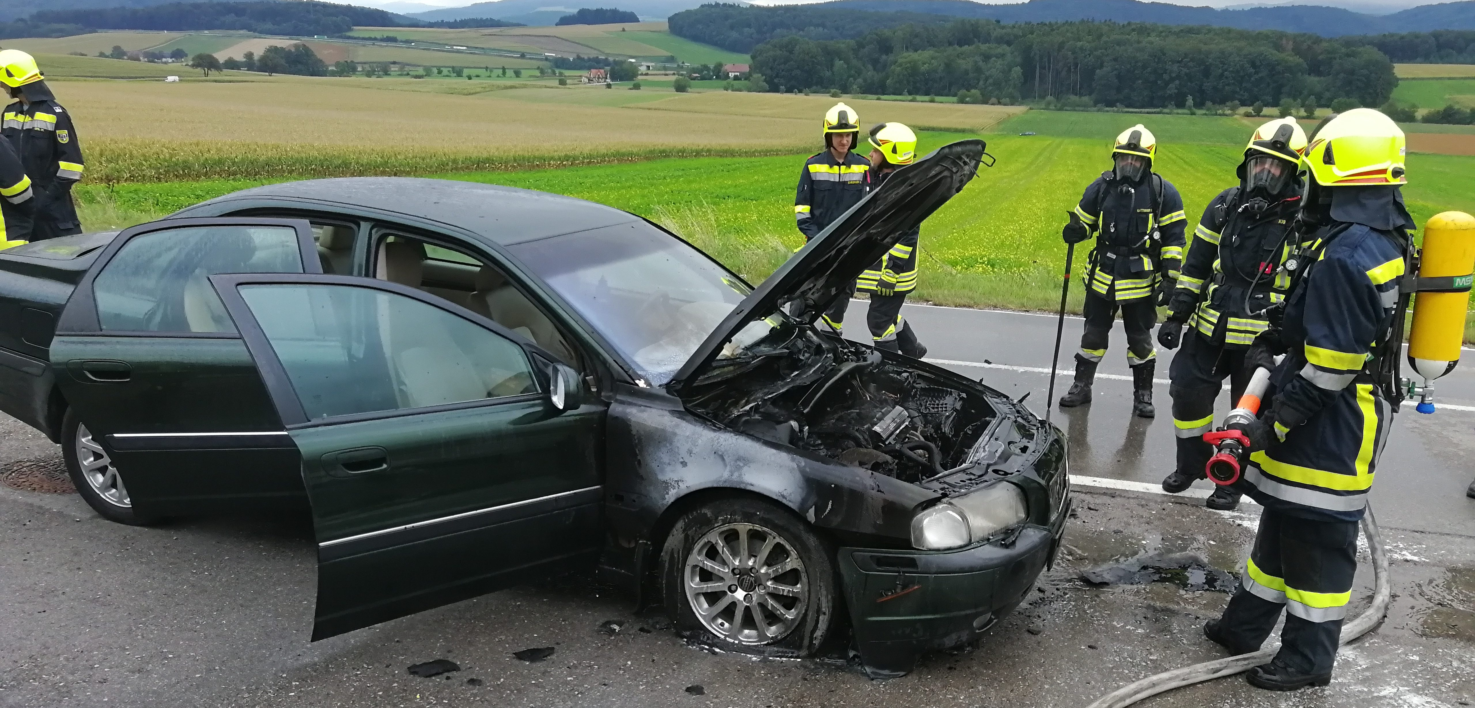 B2 - Fahrzeugbrand - 16.09.2017